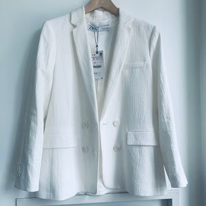 Zara Cotton Linen Blazer